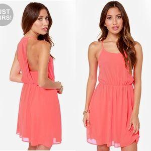 Lulu's   Start Something Neon Pink Dress